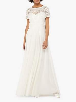 Monsoon Beatrice Embellished Bridal Maxi Dress, Ivory
