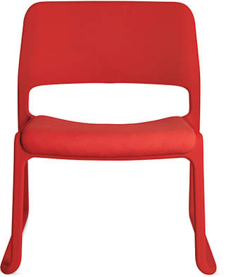 Design Within Reach Knoll Spark Lounge Chair with Seat Pad, Red at DWR