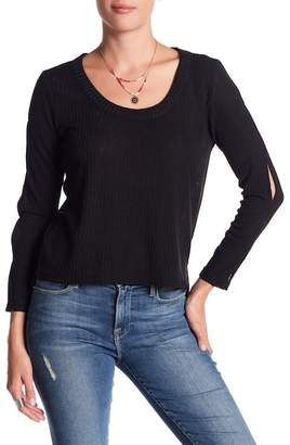 Anama Ribbed Knit Cold Shoulder Top