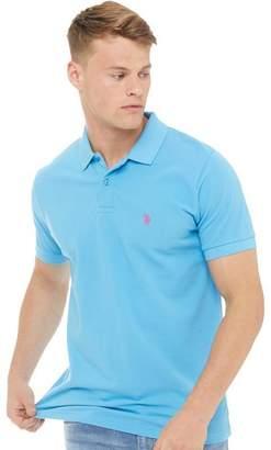 U.S. Polo Assn. Mens King Polo Ethereal Blue