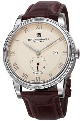 Bruno Magli 42mm Men's 80th Anniversary Limited Edition Watch, Bordeaux/Silver