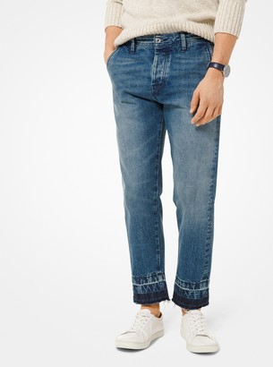 Michael Kors Washed Straight-Leg Jeans