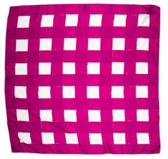 Balenciaga Printed Silk Scarf Violet Printed Silk Scarf