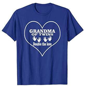 Grandma Of Twins Double The Love Great Gifts Women T-shirt