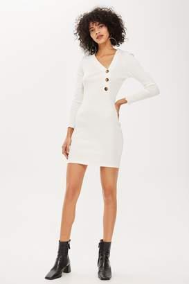 Topshop PETITE Button Through Bodycon Dress