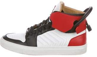 Buscemi 110MM Quilted Leather Sneakers