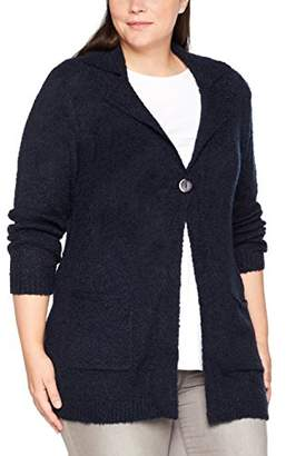 Via Appia Women's Jacke Revers 1/1 Arm Knopf Cardigan