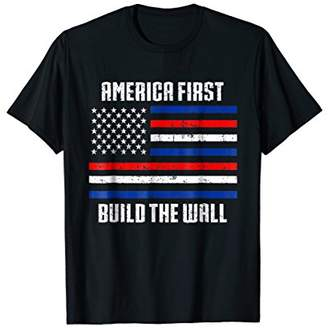 Border Construction T-Shirt Build The Wall Republican Gifts