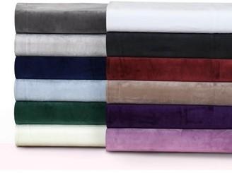 Tribeca Living Florence Velvet Oversized Solid Quilt Set Twin White