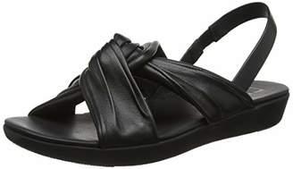 4eb4a2b39542 FitFlop Women s Drape Twist Tessa Sandal Open Toe (Black 001)