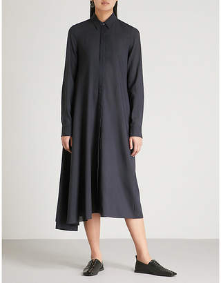 Jil Sander Asymmetric wool dress
