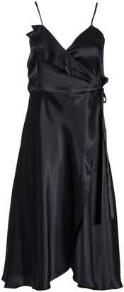 Roses Are Red - Aloise Silk Dress in Black