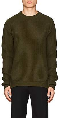 Rick Owens Men's Rib-Knit Virgin Wool Crewneck Fisherman Sweater