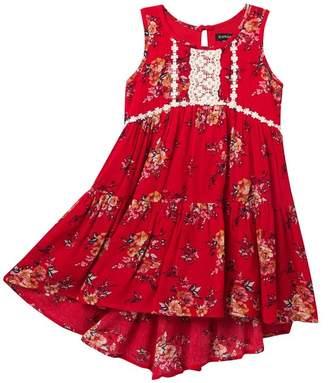 Zunie Sleeveless High/Low Tiered Dress (Toddler & Little Girls)