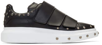 Alexander McQueen Black Studded Straps Oversized Sneakers
