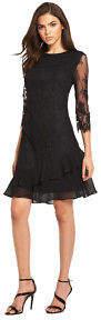 Little Mistress Lace Shift Dress In Black Size 8