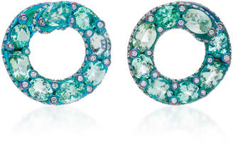 Saboo Titanium And Paraiba Hoop Earrings