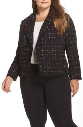 Vince Camuto Spring Windowpane Tweed Jacket