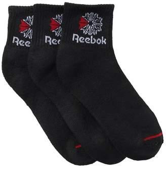Reebok Classic Quarter Crew Socks - Pack of 3