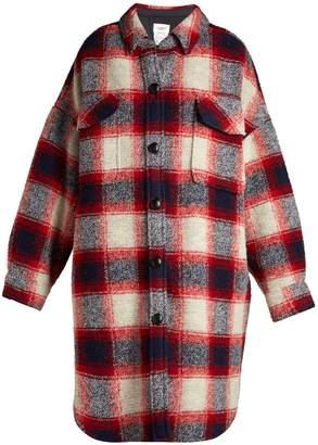 Etoile Isabel Marant Gario oversized checked wool coat