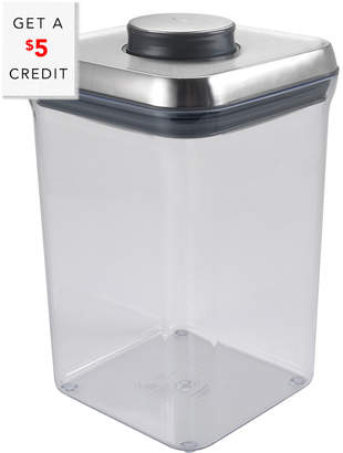 OXO Steel Pop Container - Big Square (4.0 Qt / 3.8 L) With $5 Rue Credit