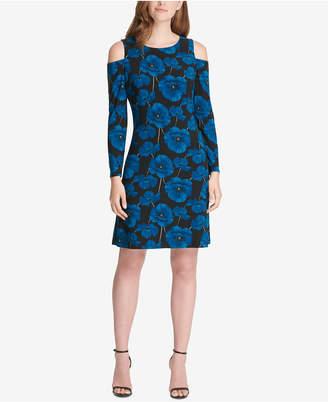 Tommy Hilfiger Printed Cold-Shoulder Dress
