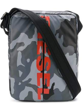 Diesel logo camouflage cross-body bag