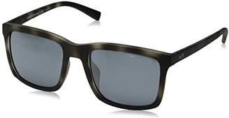 Armani Exchange Men's Injected Man Sunglass 0AX4067SF Non-polarized Iridium Square Sunglasses