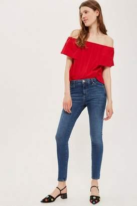 Topshop Womens Dark Blue Sidney Jeans