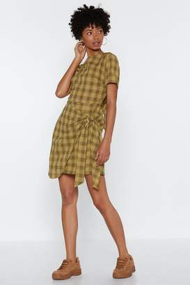 Nasty Gal Check Back Later Tie Dress