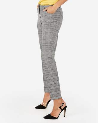 Express Mid Rise Plaid Ankle Curve Pant