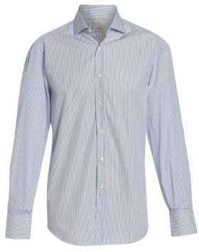 Brunello Cucinelli Ministriped Cotton Button-Down Shirt