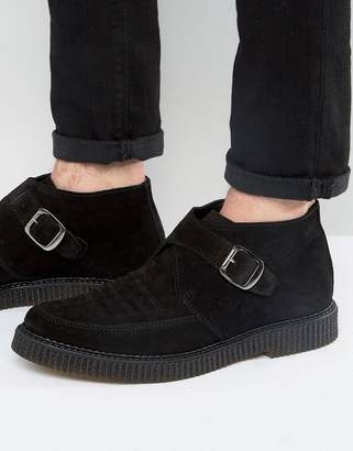 Religion Leather Creeper Monk Boots