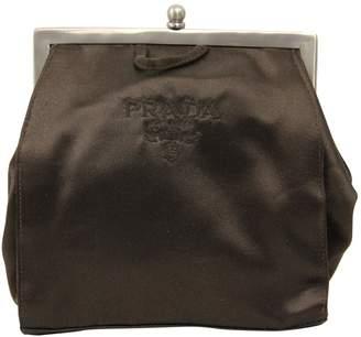 Prada Vintage Brown Silk Clutch Bag