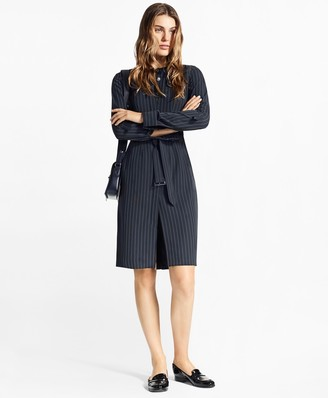 Brooks Brothers Pinstripe Trench Dress