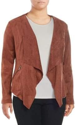 Vigoss Plus Faux Suede Cascade Jacket
