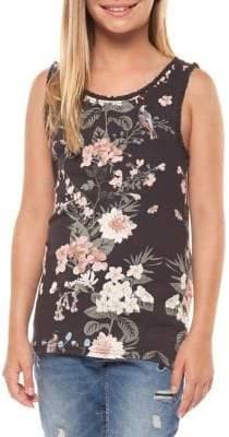 Dex Girl's Floral-Printed Tank Top