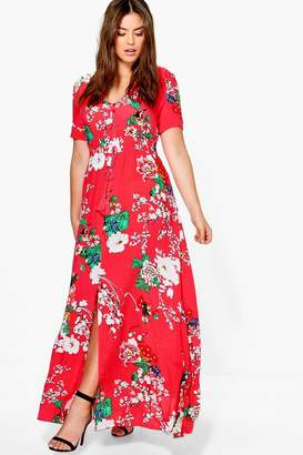 boohoo Plus Floral Print Maxi Dress
