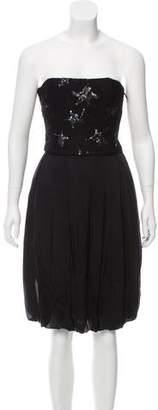 Saint Laurent Silk Embellished Dress w/ Tags