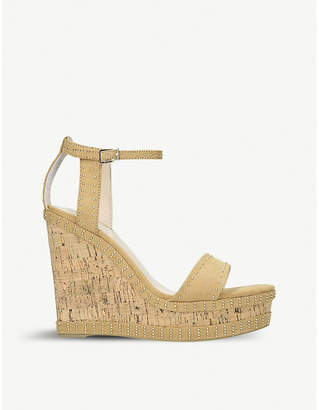 Carvela Kissmee studded suede wedge sandals