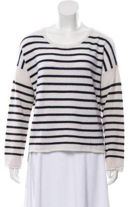 ATM Striped Cashmere Sweater pink ATM Striped Cashmere Sweater