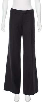 Emilio Pucci Wool Mid-Rise Wide-Leg Pants w/ Tags