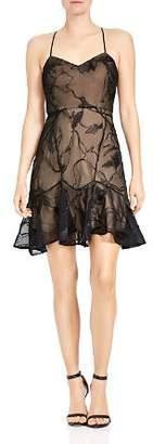 Halston Soutache A-Line Mini Dress