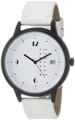 Field work (フィールド ワーク) - [フィールドワーク]Fieldwork 腕時計 ファッションウォッチ グラモン アナログ カレンダー 革ベルト ホワイト QKD052-1