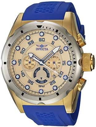 Invicta Men's 'Speedway' Quartz Stainless Steel and Polyurethane Casual Watch