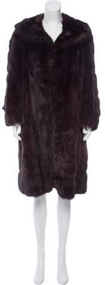 Christian Dior Sable Fur Knee-Length Coat