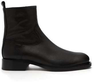 Ann Demeulemeester Canyon Leather Ankle Boots - Womens - Black
