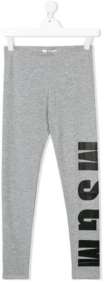 MSGM logo printed leggings