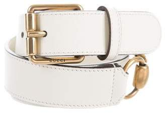 Gucci Leather Horsebit Belt w/ Tags