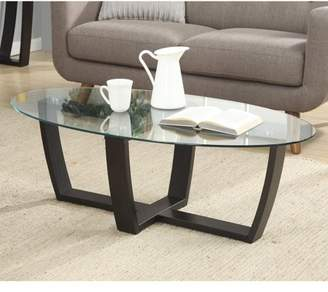 Convenience Concepts Newport Glass Top Coffee Table